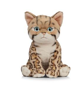 LIVING NATURE BENGAL KITTEN PLUSH SOFT TOY CAT 15CM STUFFED ANIMAL