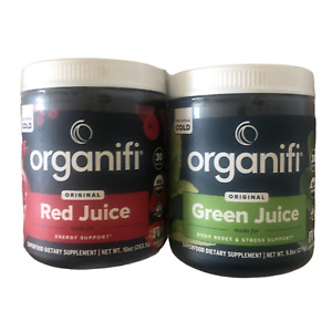 Organifi GREEN JUICE and RED JUICE Combo Pack Superfood Supplement NEW
