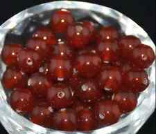 30pcs Natural Gemstone Carnelian Round Spacer Loose Beads 6mm