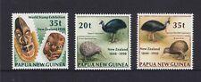 PAPUA NEW GUINEA: 1990 Stamp Exhibition/ Treaty of Waitangi set MUH, SG 621/3.