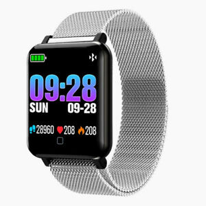 M19 Blood Pressure Heart Rate Monitor Fitness Tracker Smartwatch For Android IOS