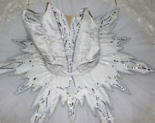 Professional White Ballet Tutu Costume Russian Snow Queen Flakes Custom MTO