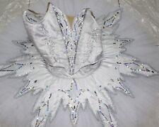 Professional White Ballet Tutu Costume Russian Snow Queen Flakes Custom MTO
