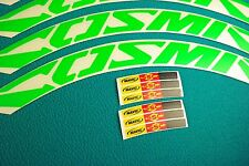 MAVIC COSMIC CARBONE ULTIMATE FLUORGREEN  RIM DECAL SET FOR 2 RIMS