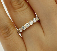 2.0 Ct 14K Real Yellow Gold Round Eternity Endless Wedding Anniversary Ring Band