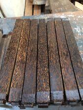 """BLACK PALM SPINDLE Vuoto/legno tornitura/Boschi esotici 1.5""""x1.5""""x18"""""""