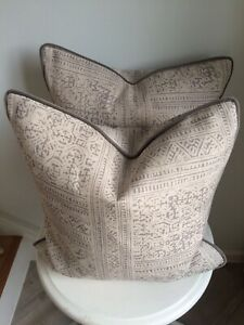 ANDREW MARTIN OSTUNI STORM/VIESTE STORM PIPED CUSHION COVER 43cm x 43cm