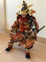 Japanese tradition antique samurai Warrior doll Figure Very rare armor sword 武者j