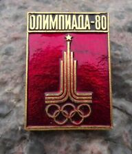 1980 Moscow Russian Olympic Games Official Olympiada 80 Rings Square Pin Badge