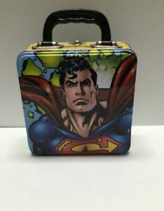 Superman Comic Art Figure Square Tin Tote Lunchbox 74370