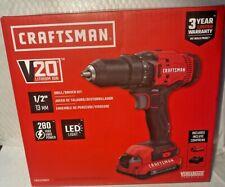 "Craftsman Cmcd700C1 V20 Lithium-Ion 1/2"" Cordless Drill/Driver Kit w/ Led Light"