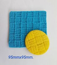 silicone sugarcraft mould Basket weave print(50grams)