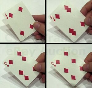 4 TO 6 OF DIAMOND CHANGE MOVING PLAYING CARD PIP MAGIC TRICK GIMMICK SEE VIDEO