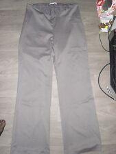 Pantalon de grossesse gris satiné VERONIQUE DELACHAUX taille 42 / 44