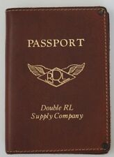 New RRL Double RL Vintage Brown Passport Holder Wallet Made In Italy