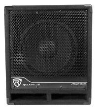 """New Rockville RBG10S Bass Gig 10"""" 1200 Watt Active Powered PA Subwoofer DJ/Pro"""