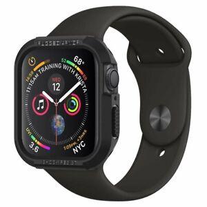 Spigen Rugged Armor Apple Watch 4/5/6/SE (44MM) Schutzhülle Case Schwarz