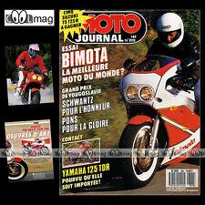 MOTO JOURNAL N°898 BIMOTA 750 YB4 1000 YB6 YAMAHA 125 TDR GRAND PRIX RIJEKA 1989