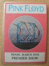PINK FLOYD Laminated Commemorative Pass - World Tour 1994, Premier Show