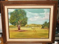 WINNIE HAY STACK FARM LAND OIL ON CANVAS PAINTING