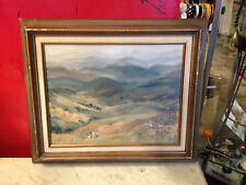 Vintage Mid Century 1974 Early Regina Murphy Signed Oil Landscape Painting