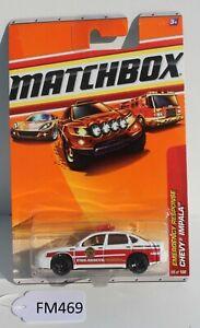 Matchbox Emergency Response Chevy Impala Fire car 4/8 FNQHotwheels FM496