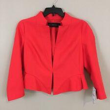 Zara Basic Women's Orange Short Blazer Size XL 100% Cotton
