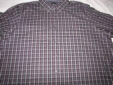 NWT Men's Apt. 9 L/S Button Front Dress Shirt Sz 2XLT $56 Color - Black / Wine