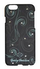 Harley Davidson iPhone Case BLING Swirl Black Blue Hard Snap on Cover 6 6s Rhine