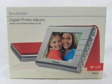 "Brookstone My Life 3.5"" Portable Digital Photo Album Picture Frame Red"