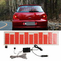 Red Car Sticker 45*11.6 Music Rhythm LED Flash Light Lamp Sound Activated NEW