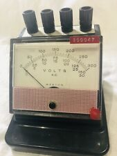 Vintage 1960 Weston Electrical Instrument Corp. AC Voltmeter ZS41408