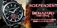 New INDEPENDENT × BIOHAZARD Resident Evil The Final Official Chronograph Watch