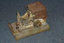 Zerschossene Wassermühle Ruine Leistner Elastolin für 7cm Lineol Soldaten Serie