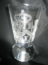 TRADITIONAL MASONIC FIRING GLASS  ENGRAVED WITH THE CoA's - GRAND LODGE OF SPAIN