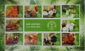Sri Lanka Ceylon World Coconut Day Miniature sheet