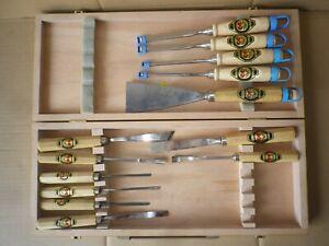 13 x Kirschen Kerbschnitzbeitel Stechbeitel Stemmeisen Schnitzwerkzeug