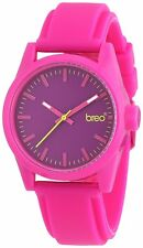 Breo Polygon B-TI-PLY3 Pink Rubber Strap Purple Dial Analogue Sports Watch