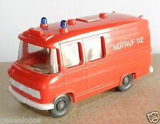 MICRO WIKING HO 1/87 FOURGON MERCEDES L 406 POMPIERS NOTRUF 112