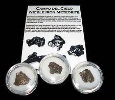 Campo del Cielo iron meteorite fragment in display gem jar medium size