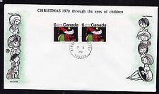 1970  No. 527p horizontal pair Winnipeg tagged unaddressed Cole cachet Christmas