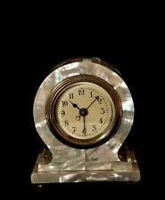 Art Nouveau mother of pearl alarm clock c. 1900
