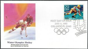 FIRST DAY COVER - WINTER OLYMPICS HOCKEY - FLEETWOOD CACHET - NICE!