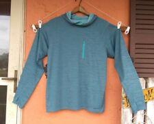 Patagonia Long Sleeve Hooded Shirt Turquoise Men's Medium Pullover Thumb Holes