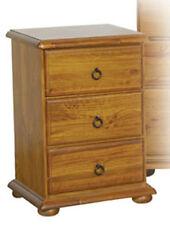 Vasco Blackwood 3 Drawer Timber Bedside Table - BRAND NEW