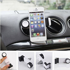Car SUV White Phone 360 Rotating Air Vent Mount Holder Cradle Stand for iPhone 6