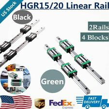 Hgr15 Hgr20 2X Linear Rail Guide+4X Hgh15Ca Hgh20Ca Block Hgh15 Hgh20 200-1700mm