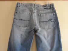 REQUEST Men's Classic Straight Leg Medium Wash Sz 32 / 30 Blue Denim Jeans MINT