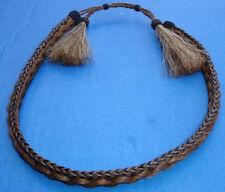 Western Decor Cowboy HAT BAND Braided Horsehair Double Tassel