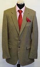 MS566 ST MICHAEL  MEN'S BROWN TWEED LIKE 2PC HOUNDSTHOTH SUIT CHEST 40  W34  L31